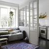Inserimento pannelli vetro/porte bianche tra cucina e soggiorno