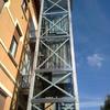 Installazione nuovo ascensore in cortile (3piani)