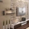 Rivestimento parete con finta pietra