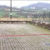 Costruzione di un muro con cancello scorrevole senza motore