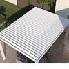 Pergola da giardino, struttura alluminio (ipotesi copertura alluminio o tenda)