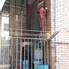 Repristino di balcone interno all'interno di cucina/sala sul pianoterra