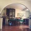 Cartongesso casa roma riempendo arco salone
