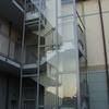 Chiusura scala condominiale esterna