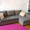 Fodera in tessuto per divano amstad con chaise longue a dx