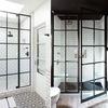 Porta doccia con anta fissa industrial