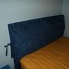 Rivestimento letto imbottito con cassettone
