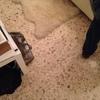Lucidare il pavimento della camera da letto in graniglia