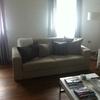 Rifonderare 2 divani e un puff in stoffa