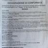 Dichiarazione Di Conformità Installazione