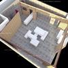 Realizzazione cubi in legno  laccato bianco opacho