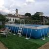 Rivestimento in wpc di piscina fuoriterra