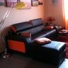 Sostituzione particolari color arancio divano pelle