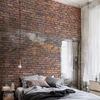 Realizzazione parete in mattoncini rossi