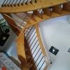 Verniciatura scala in legno