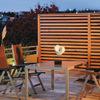 Realizzazione barriera in legno frangivento/ frangivista per balcone